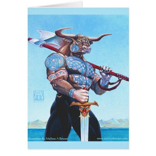 Daedalus Minotaur of Crete Greeting Card