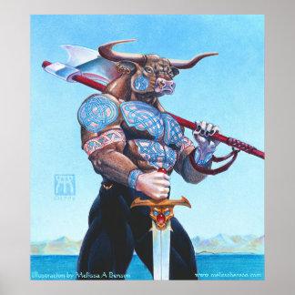 Daedalus Minotaur of Crete print
