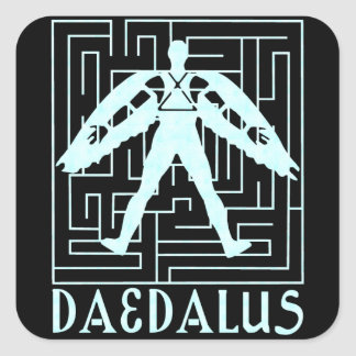 Daedalus Pegatina Cuadrada