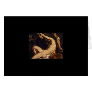 Daedalus y Ícaro de Charles Le Brun Tarjeta De Felicitación