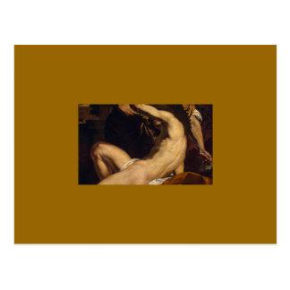 Daedalus y Ícaro de Charles Le Brun Tarjetas Postales