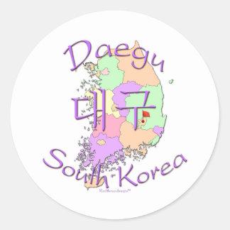 Daegu South Korea Round Sticker