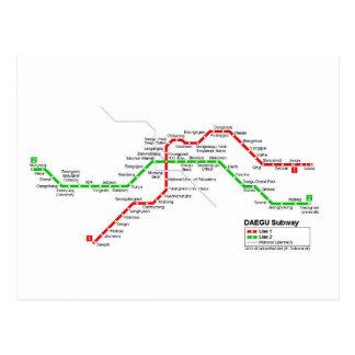 Daegu subway system postcard