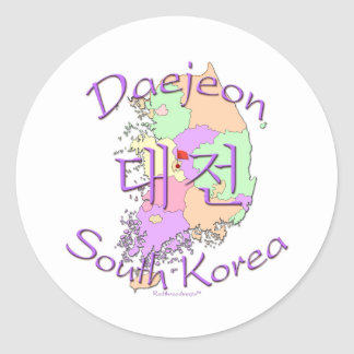 Daejeon South Korea Sticker