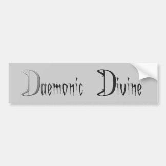 Daemonic divino pegatina de parachoque