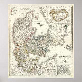 Daenemark, isla - Dinamarca, Islandia Posters