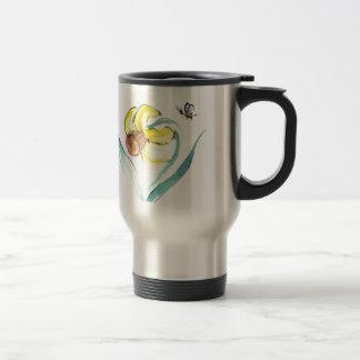 Daffodil and Buzzin Bee, Sumi-e Travel Mug