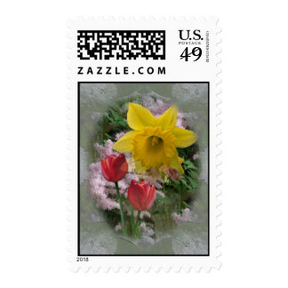 Daffodil and Tulips Postage Stamps