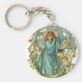 Daffodil Angel Keychain