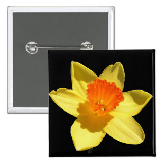 Daffodil (Background Removed) 2 Inch Square Button
