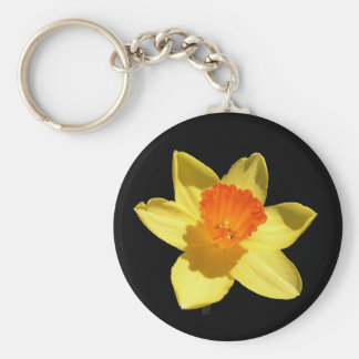 Daffodil (Background Removed) Basic Round Button Keychain
