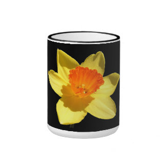 Daffodil (Background Removed) Ringer Coffee Mug