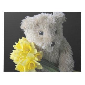 daffodil bear notepad