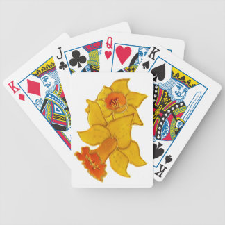 Daffodil Bicycle Playing Cards