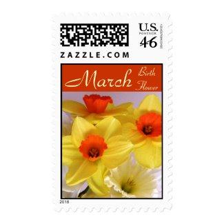 Daffodil Birthday Flower Postage - MARCH