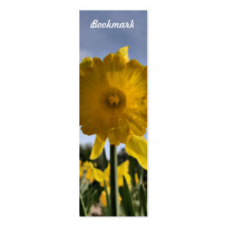 Daffodil Bookmark Double-Sided Mini Business Cards (Pack Of 20)