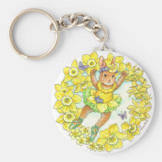 Daffodil Bunny Keychain
