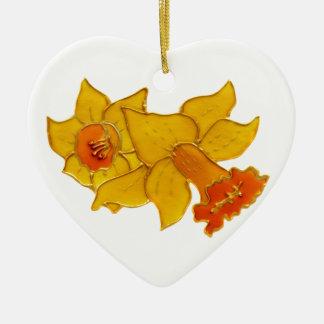 Daffodil Ceramic Ornament