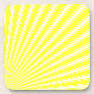 Daffodil Color Stripe Funky Pattern Drink Coaster
