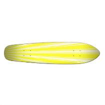Daffodil Color Stripe Funky Pattern Skateboard Deck