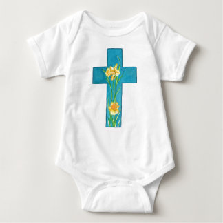 Daffodil Cross T Baby Bodysuit