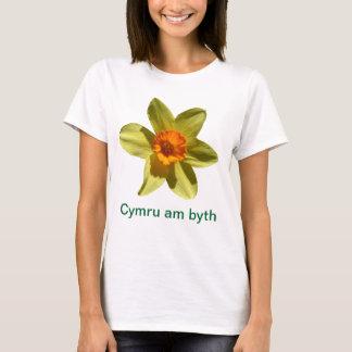 Daffodil, Cymru am  byth T-Shirt