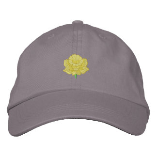 Daffodil Embroidered Baseball Cap