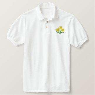 Daffodil Embroidered Polo Shirt