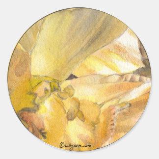 Daffodil Envelope Seals Wedding Stickers