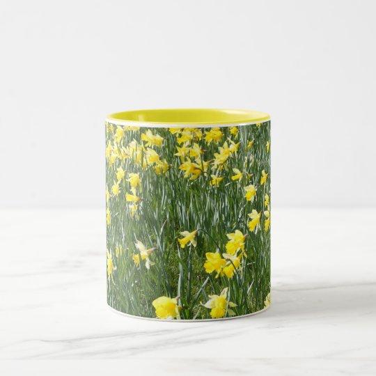 Daffodil Field  on a Spring Day Mug