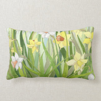Daffodil Fields Lumbar Pillow