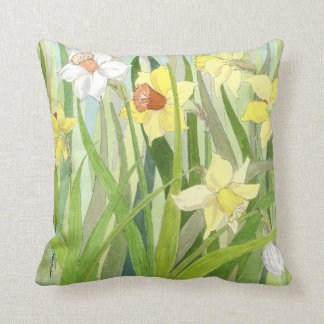Daffodil Fields Square Pillow