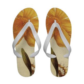 Daffodil Flip Flops