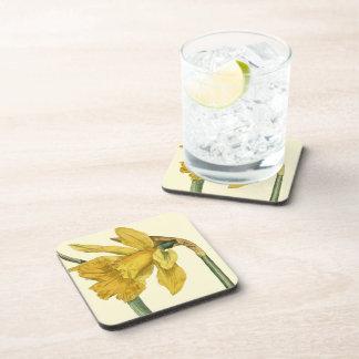 Daffodil Floral Coasters Set