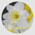 Daffodil Floral Easter Classic Round Sticker