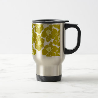 Daffodil Floral Pattern Travel Mug