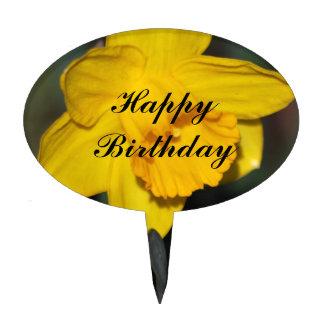 Daffodil flower customizable cake topper