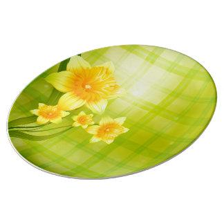 Daffodil Flower Decorative Porcelain Plate