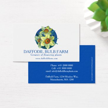 Professional Business Daffodil flower farm plant suppliers business card