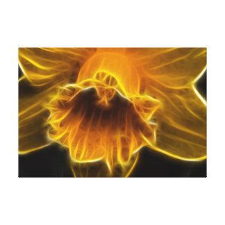 Daffodil Flower Fractal Canvas Print