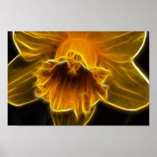 Daffodil Flower Fractal Poster