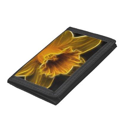 Daffodil Flower Fractal Trifold Wallets