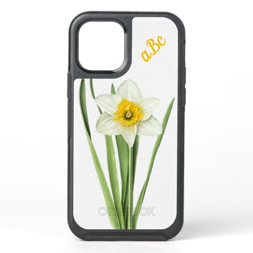 Daffodil Flower Personalized OtterBox Symmetry iPhone 12 Case