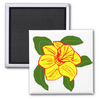 Daffodil flower sea turtle magnet