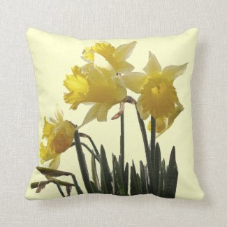 Daffodil Flowers Pillow
