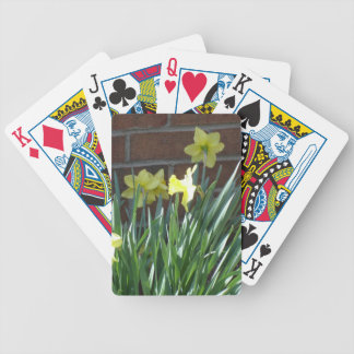 Daffodil Garden Bicycle Playing Cards