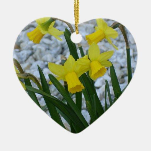 Daffodil Growing Ceramic Ornament