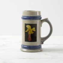 Daffodil In Cowgirl Shoe Gray/Blue 22 oz Stein