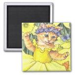 Daffodil Kitten Magnet