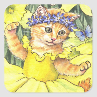 Daffodil Kitten stickers